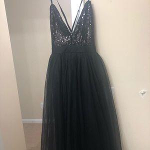 Long black formal dress